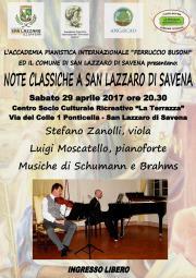 STEFANO ZANOLLI (VIOLA) LUIGI MOSCATELLO (PIANOFORTE) MUSICHE DI SCHUMANN & BRAHMS
