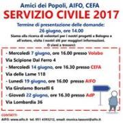 INCONTRI INFORMATIVI SERVIZIO CIVILE ADP-AIFO-CEFA