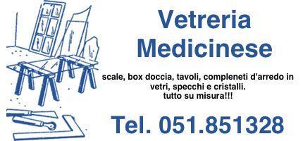 Vetreria, Vetri su misura, Specchi, Box Doccia, Porte in Vetro